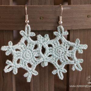 crochet earrings snowflake